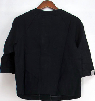 Dialogue Size S 3/4 Sleeve Ponte Knit Button Front Jacket Navy Blue A93410