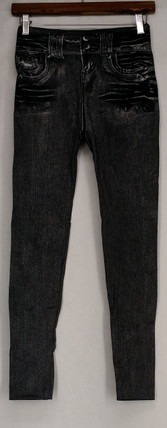 Slim 'N Lift Leggings S/M Caresse Jeggings Ankle Length Leggings Black C415986