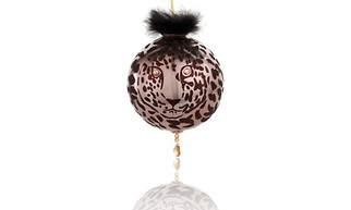 Diane Gilman Cheetah Christmas Tree Ornament w/ SWAROVSKI Elements