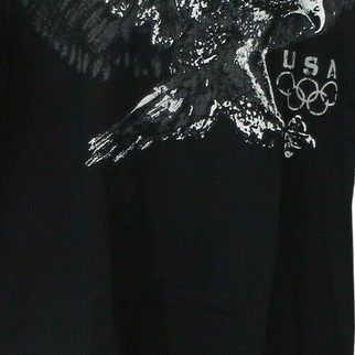 2010 Olympics Team USA Sz M Eagle Short Sleeve T-Shirt Top Black A202201