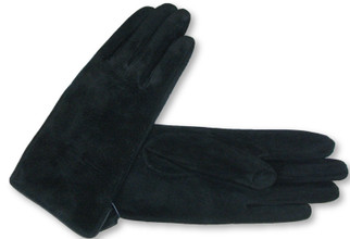 Cedric Sz S Genuine Suede Leather Everyday Black Gloves