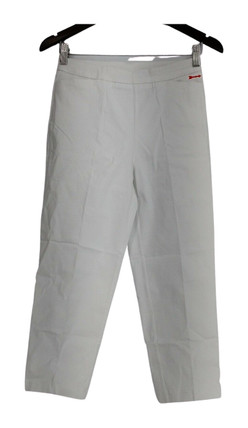 Susan Graver Pants Sz 4 Ultra Stretch Pull-On Cropped Length White A252350
