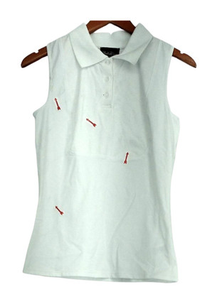 Kathleen Kirkwood Camisole Sz XS Dictrac-Ease Polo Collar White A294585