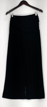 M By Marc Bouwer Pants XXS Stretch Knit Wide Leg w/ Waist Detail Black A221523