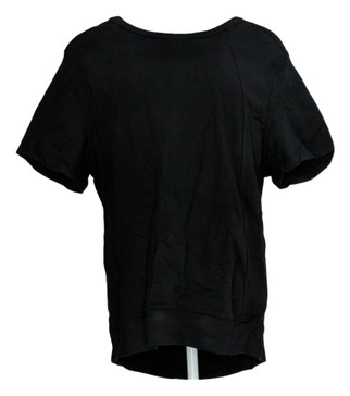 AnyBody Loungewear Cozy Knit French Terry Sweatshirt Tee XXS Black A290145