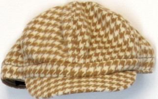 Global Glamour  stretch  Panel Newsboy Cap Camel  NEW NWOT