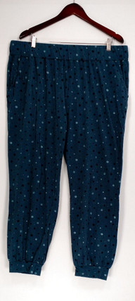 Anybody Lounge Pants, Sleep Shorts XL Loungewear Cozy Knit Printed Blue A296084