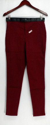 SA by Seth Aaron Pants Sz 8 Snake Embossed Ankle Dark Wine Red A268978