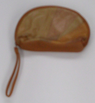 Madi Claire Sz Small Upsell Cosmetic Case Cognac Brown Handbag S419751