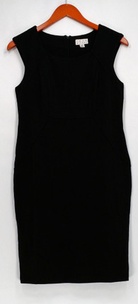 Joan Rivers Petite Size Dress 4P Ponte Knit Sheath Sleeveless Black A261816
