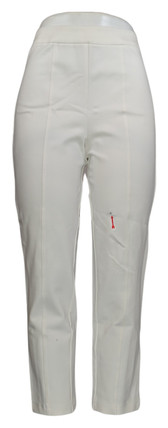 Joan Rivers Pants Sz S Pull-On Seam Detailed w/ Faux Back Pockets White A300856