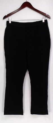 Shape FX Pants Sz 6 Ponte Knit Pull On Skinny Leg Cropped Black A272122