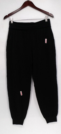 Anybody Lounge Pants XS Loungewear Cozy Knit Foldover Waistband Black A293069