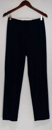 Susan Graver Pants 4 Milano Knit Hollywood Waist Front Zip Blue A269294
