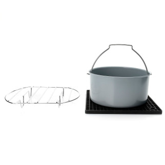 Cook's Companion 3-Piece Pan Rack & Trivet Air Fryer Accessory Set