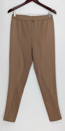 GK George Kotsiopoulos Leggings Sz S Ponte Knit Mixed Beige A263366
