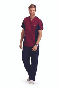Men Scrubs Two Tone Top