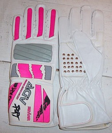 Motorcycle Gloves AGV RX3 White/ Pink/Gray XS