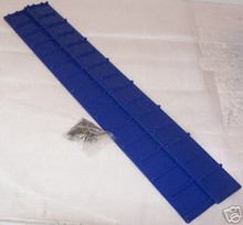 Snowmobile Running Board Sno-grips Blue rectangular new