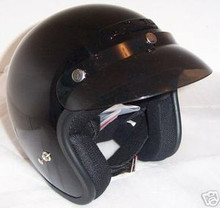 Motorcycle Helmets  Zeus 380 Black Open Face New