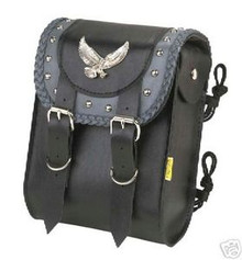 Sissy Bar Bag Willie & Max Studded Gray Thunder