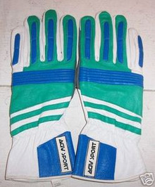 Motorcycle Gloves AGV RX2 White/Green/Blue (Small)