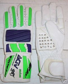 Motorcycle Gloves AGV RX 3 White/Blu/Grn. Size Small