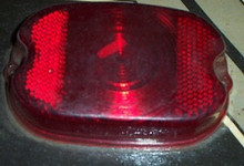 Harley Tail light Lens 55-72 Red plastic aftermarket