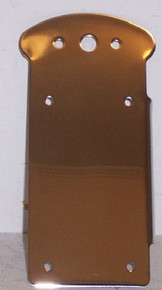 """Stainless Steel Side Mount License Plate/taillight Bracket Left 1"""" axel Catseye"""