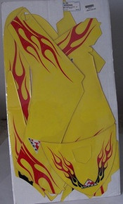 Ceet  Body Decal Kit Suz 04-05 LT-Z250 Yell/Flames