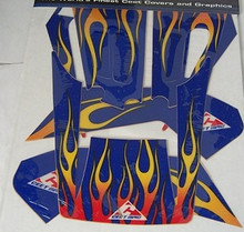 Ceet  Body Decal Kit Yam Warrior Blue/Flames