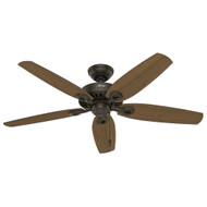 """Hunter 52"""" Builder Elite Damp New Bronze Ceiling Fan"""