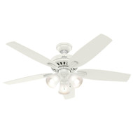 "Hunter 52"" Newsome Fresh White Ceiling Fan with Light"