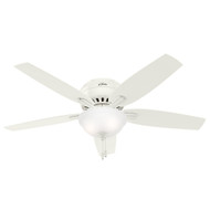 "Hunter 52"" Newsome White Ceiling Fan with Light"