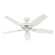 "Hunter 52"" Newsome Fresh White Ceiling Fan"