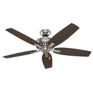 "Hunter 52"" Newsome Brushed Nickel Ceiling Fan"