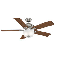 "Casablanca 52"" Utopian Gallery Brushed Nickel Ceiling Fan with Light and Remote"