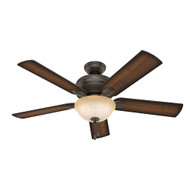 "Hunter 52"" Matheston Onyx Bengal Ceiling Fan with Light"