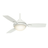 "Casablanca 44"" Verse Fresh White Ceiling Fan with Light and Remote"