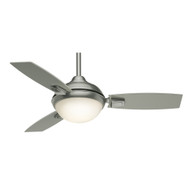 "Casablanca 44"" Verse Satin Nickel Ceiling Fan with Light and Remote"