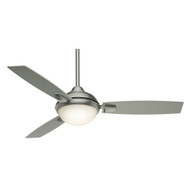 "Casablanca 54"" Verse Satin Nickel Ceiling Fan with Light and Remote"