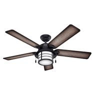 """Hunter 54"""" Key Biscayne Weathered Zinc Ceiling Fan with Light"""