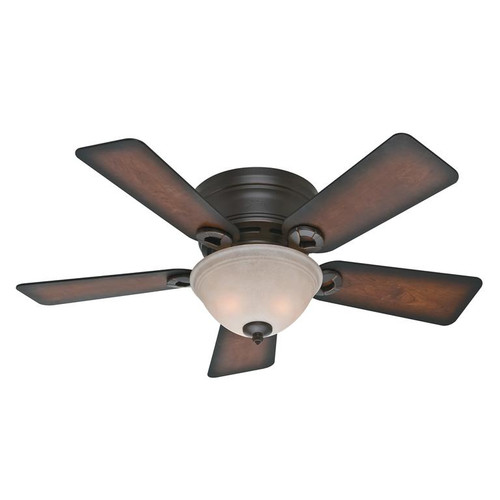 """Hunter 42"""" Conroy Onyx Bengal Ceiling Fan with Light 51023"""