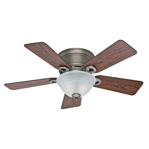 """Hunter 42"""" Conroy Antique Pewter Ceiling Fan with Light 51024"""