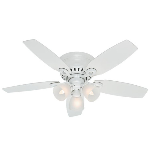 "Hunter 46"" Hatherton Snow White Ceiling Fan with Light 52087"