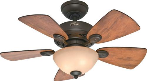 """Hunter 34"""" Watson New Bronze Ceiling Fan with Light 52090"""