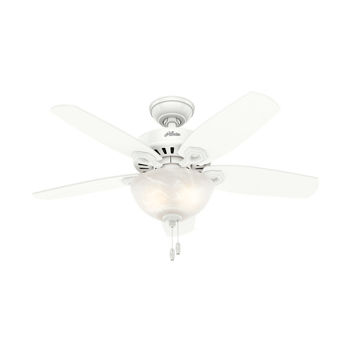 "Hunter 42"" Builder Small Room Snow White Ceiling Fan with Light 52217"