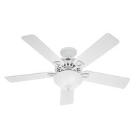 "Hunter 52"" Astoria White Ceiling Fan with Light 53059"