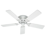 "Hunter 52"" Low Profile III White Ceiling Fan 53069"