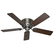 "Hunter 52"" Low Profile III Antique Pewter Ceiling Fan 53071"
